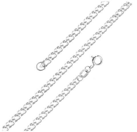 Серебряная цепь 45 см тоненькая