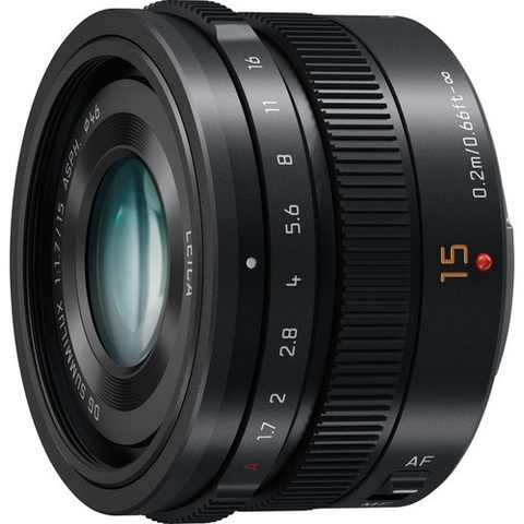 Объектив Panasonic Leica DG Summilux 15mm f/1.7 Asph H-X015-K Black