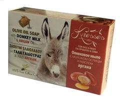 Оливковое мыло с молоком ослиц и маслом аргана Knossos 100 гр