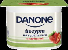 "Йогурт ""Danone"" густой Клубника 2,9% 110г"