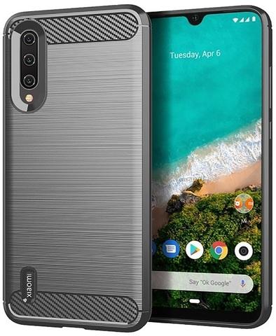 Чехол для Xiaomi Mi 9 Lite (A3 Lite, CC9) цвет Gray (серый), серия Carbon от Caseport