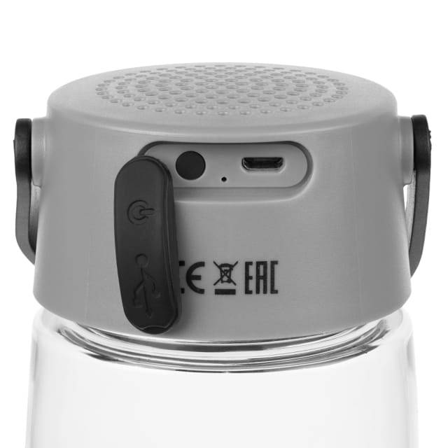 Torsta Travel Bottle with Bluetooth Speaker and Light