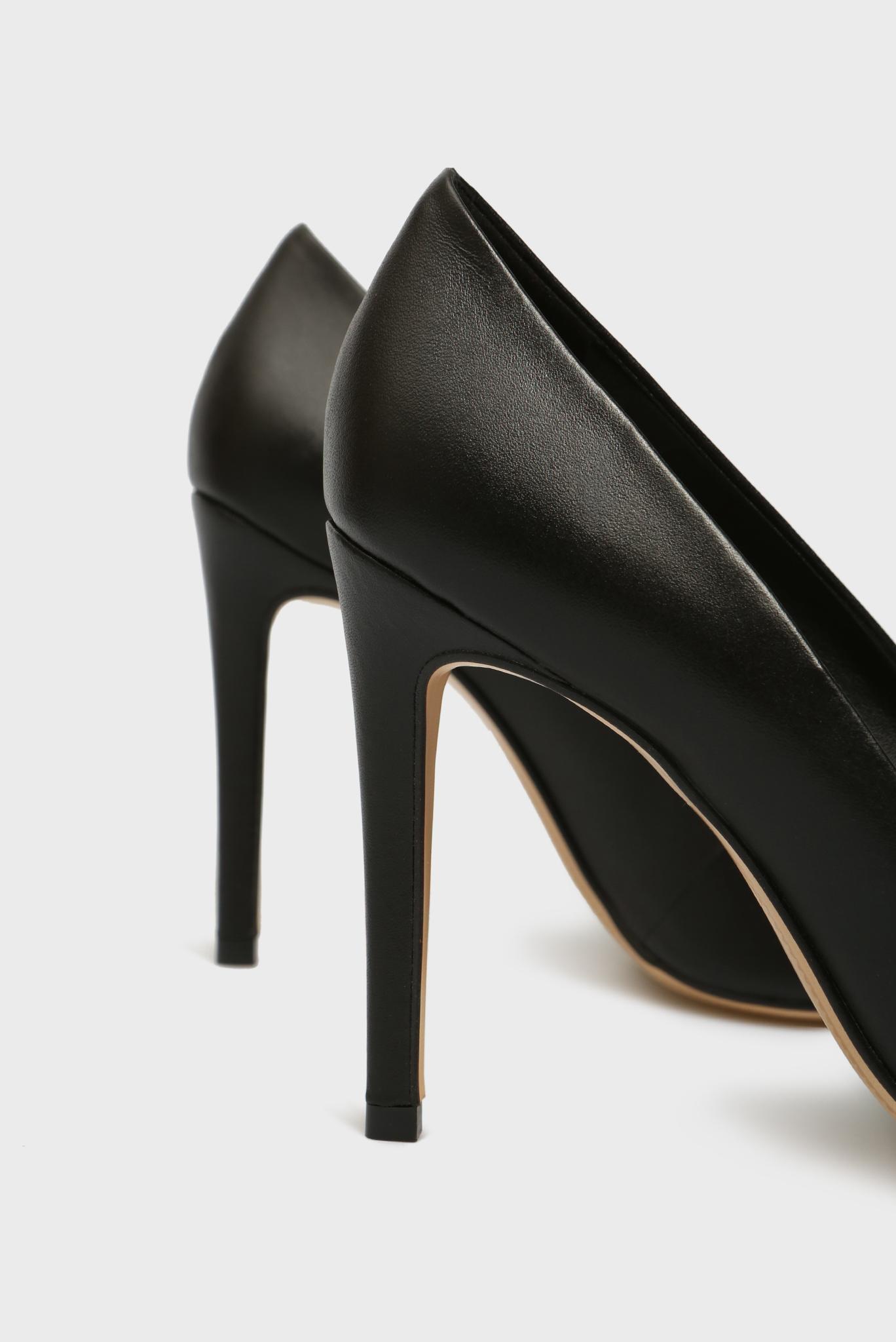 Женские черные кожаные лодочки Gigi Preppy