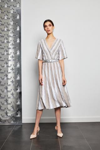 D.Exterior Платье трикотажное с раслешенной юбкой