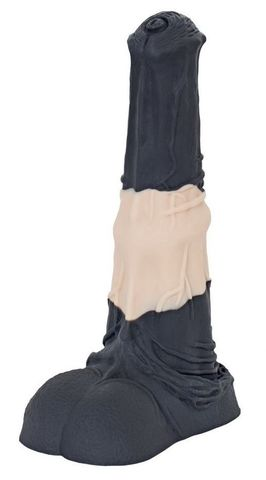Чёрно-бежевый большой фаллос жеребца  Коди  - 25 см.