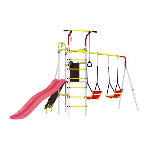 Детский спортивный комплекс для дачи ROMANA Островок Плюс (Цепные Качели)