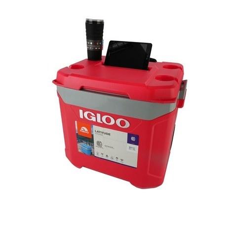 Изотермический пластиковый контейнер Igloo Latitude 60 Roller red