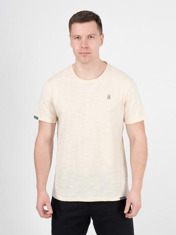 Мужская футболка «Великоросс» цвета слоновая кость круглый ворот