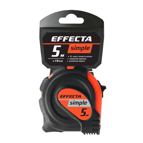 Рулетка Simple 5м/19 мм Effecta 570519