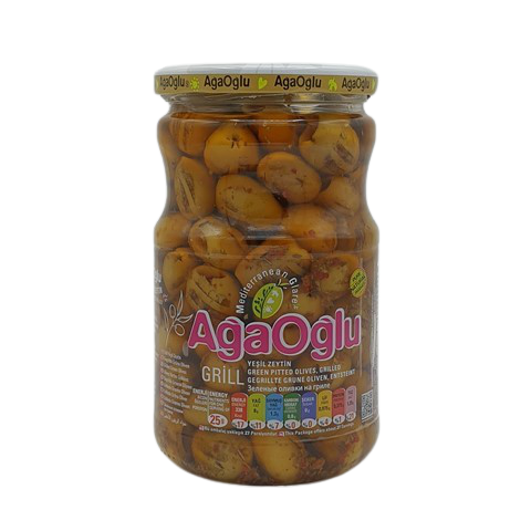 Оливки жареные на гриле со специями AGAOGLU, 720 гр