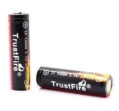 Аккумуляторы 14500 TrustFire 900mAh с защитой (Li-ion)