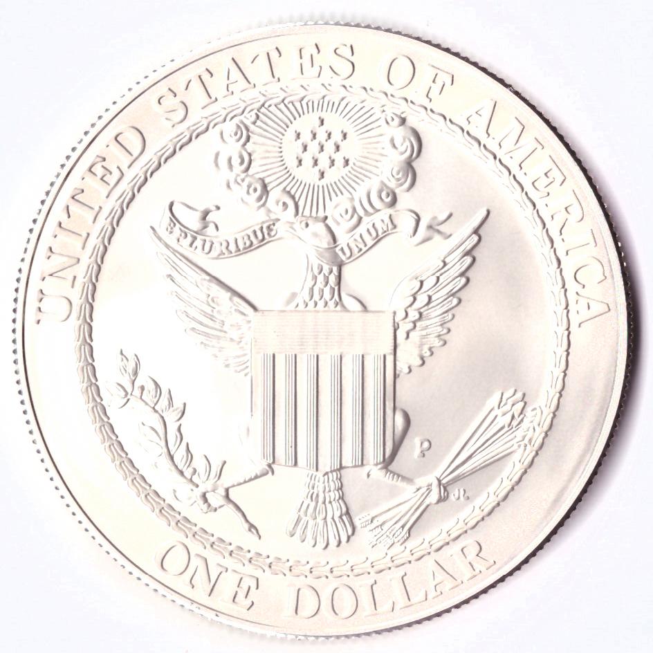 1 доллар 2008 (P) (Американский белоголовый орлан) UNC Серебро