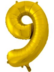 К 34''/86см, Цифра 9, Золото.