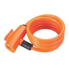 Велозамок BBB QuickSafe 8mm x 1500mm ключевой оранжевый