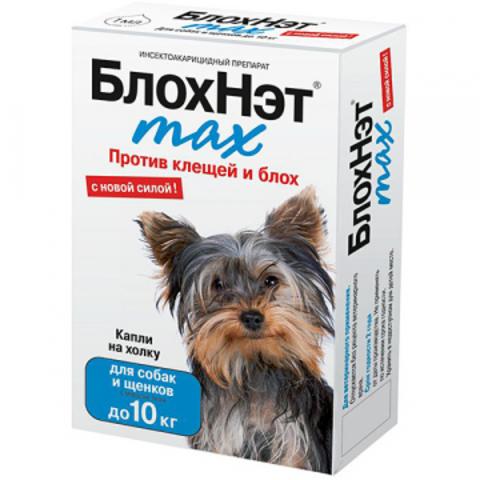 БлохНэт Max капли на холку д/соб до 10 кг
