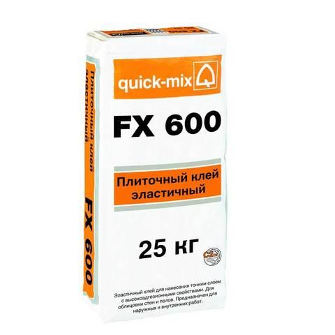 Quick-Mix FX 600, мешок 25 кг - Эластичный плиточный клей