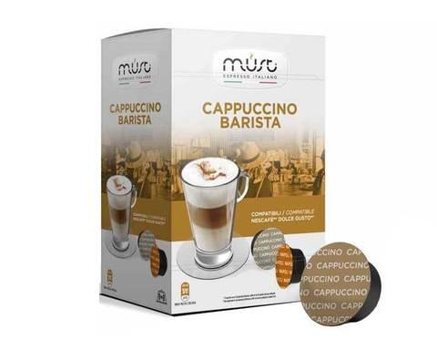 Кофе в капсулах Must Cappucino Barista, 16 капсул для кофемашин Dolce Gusto