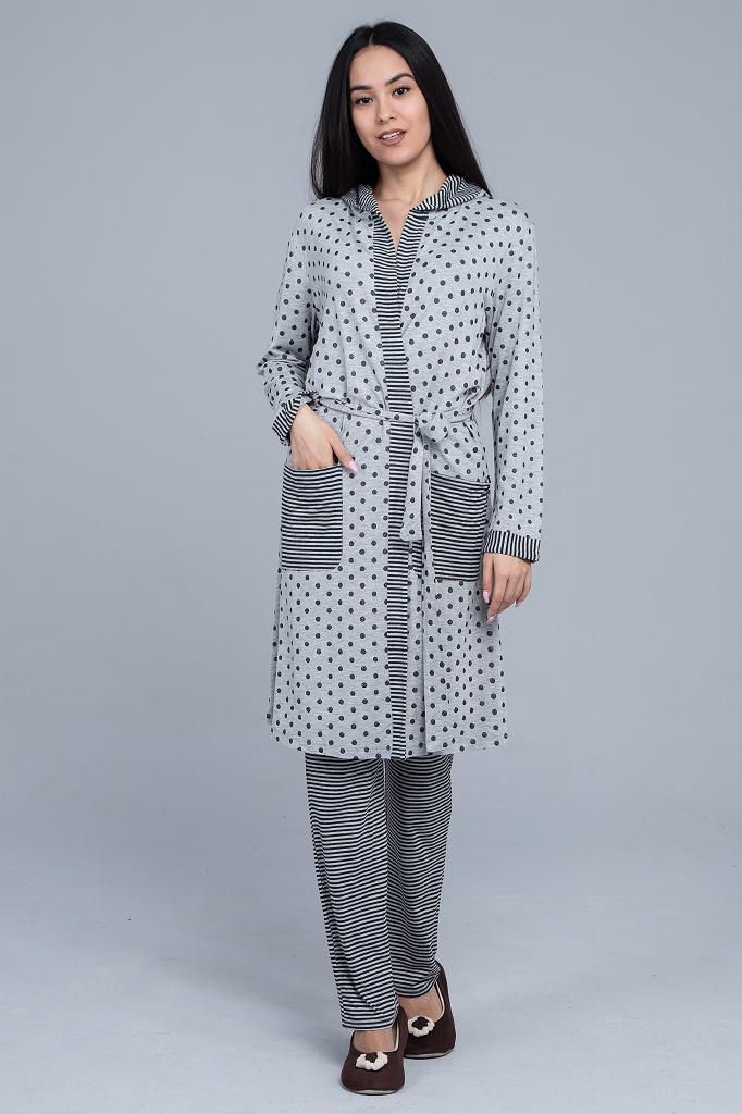 Мягкий халат из вискозы Twin-Set