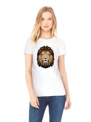 Футболка с принтом Лев (Lion) белая w005
