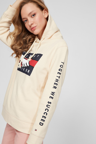 Женское бежевое худи ABO EARTH DAY Tommy Hilfiger
