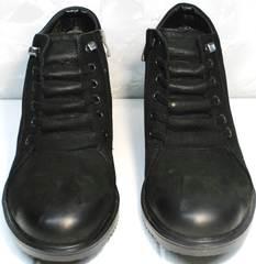Мужские классические ботинки зимние Luciano Bellini 71783 Black.