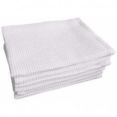 Полотенце вафельное 80х140 пл.160 гр/м2 отбеленное, 10шт.