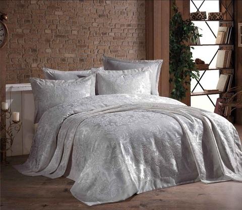 Гобеленовое покрывало DO&CO 240х260 (наволочки 50x70 2 шт.) GUL цвет серый