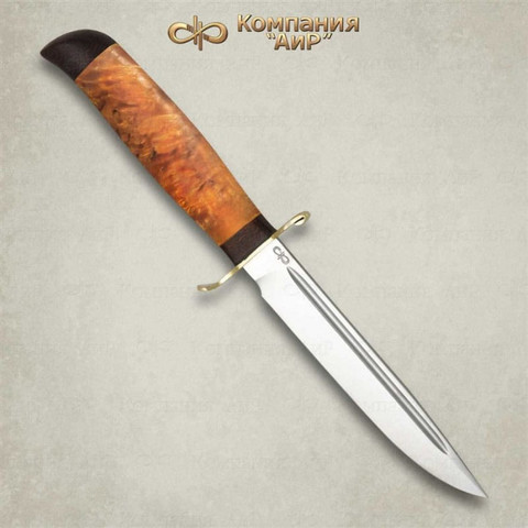 Нож Финка-2 Вача, карельская береза, 100х13м, АиР