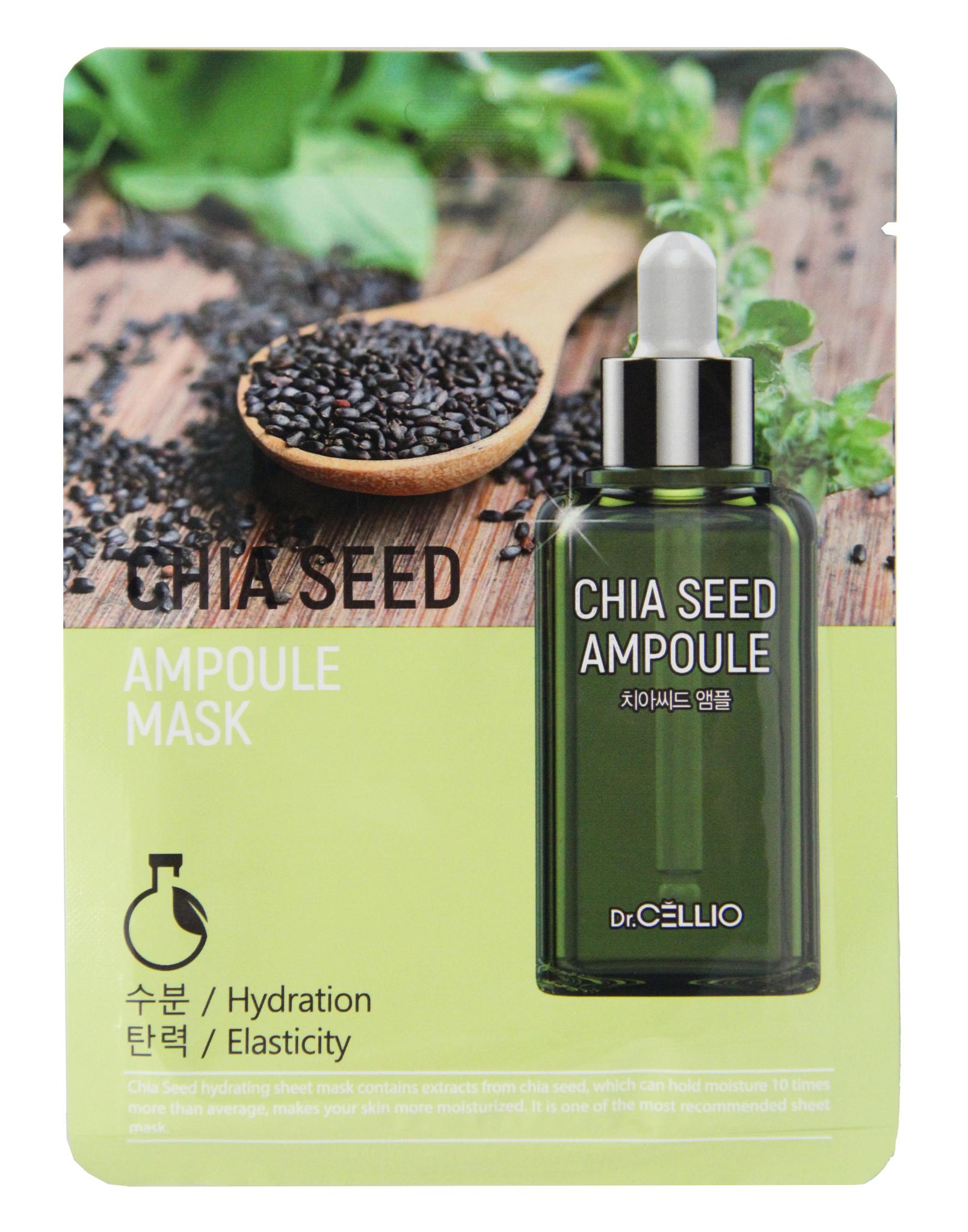 Тканевые Маска тканевая для лица с семенами чиа Dr. CELLIO CHIA SEED AMPOULE MASK 25 мл 2c95ecd3ce82fff5.jpeg