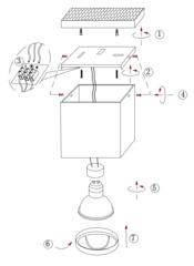 Накладной точечный светильник INL-7005D-01 White