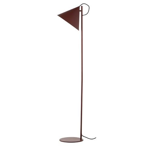 Лампа напольная Benjamin, темно-красная матовая, черный шнур