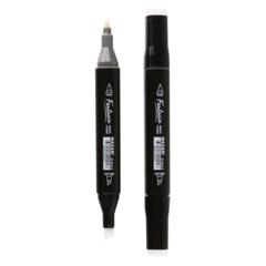 Mazari Fantasia маркеры для скетчинга двусторонние спиртовые пуля/долото 3.0-6.2 мм 2 шт (бесцветный блендер + черный)