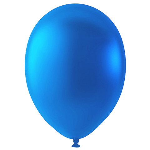 Шар Синий Металлик, 30 см