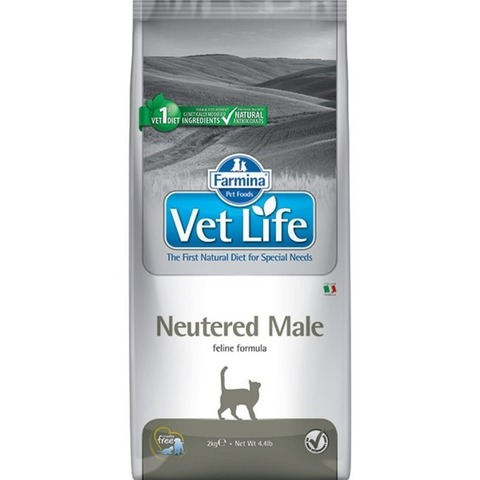 Сухой корм Farmina VET LIFE Feline Neutered Male диета для кошек 5 кг