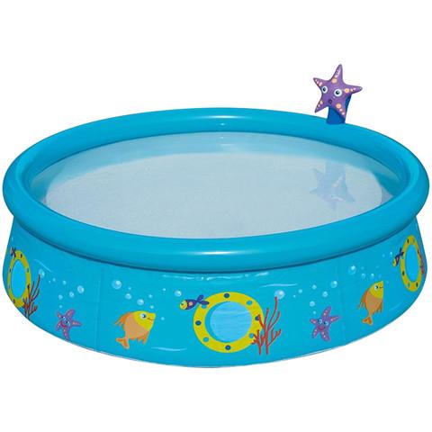 Надувной бассейн Bestway 57326 Морская звезда (152x38 см) с разбрызгивателем / 25343