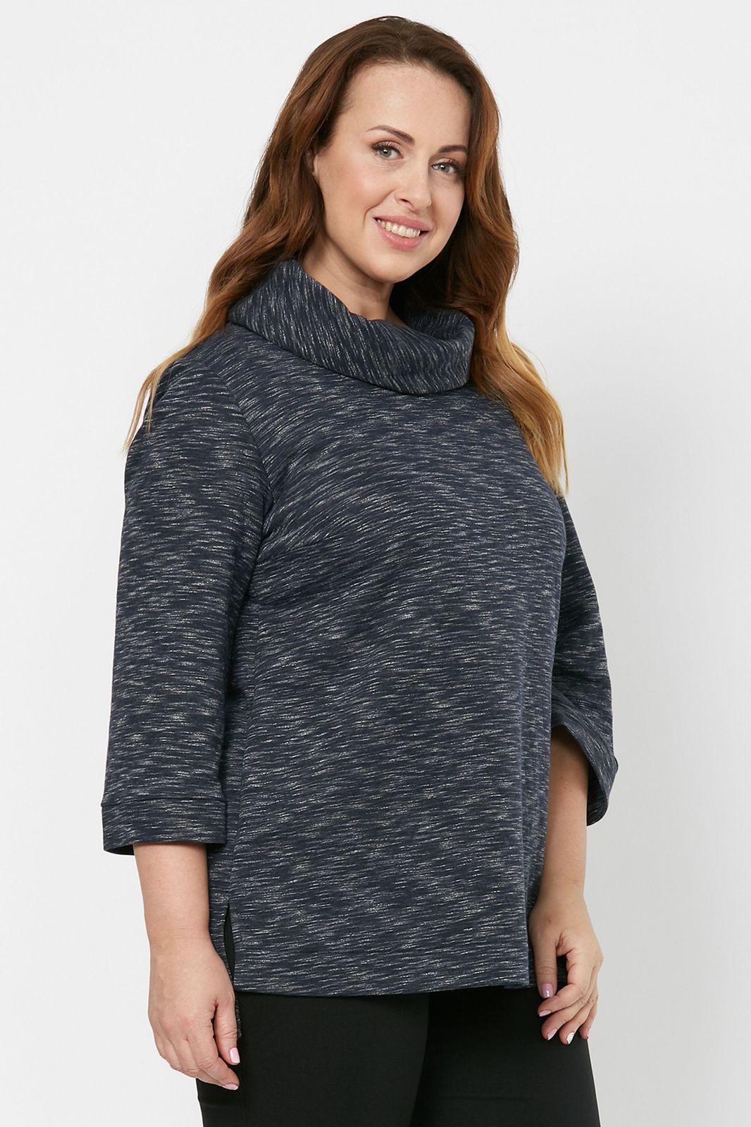Блузки Блузка с воротником хомут 4-058-2 50 4-058-2_siniyi_3.jpg