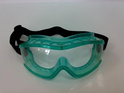 EF Очки-полумаска с зелен. линзой и боков. загиб EF 18