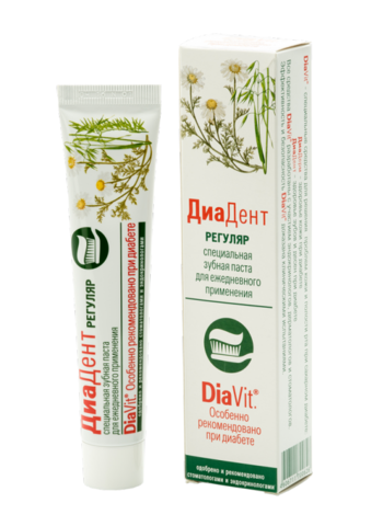 ДиаДент Регуляр зубная паста 50мл Аванта