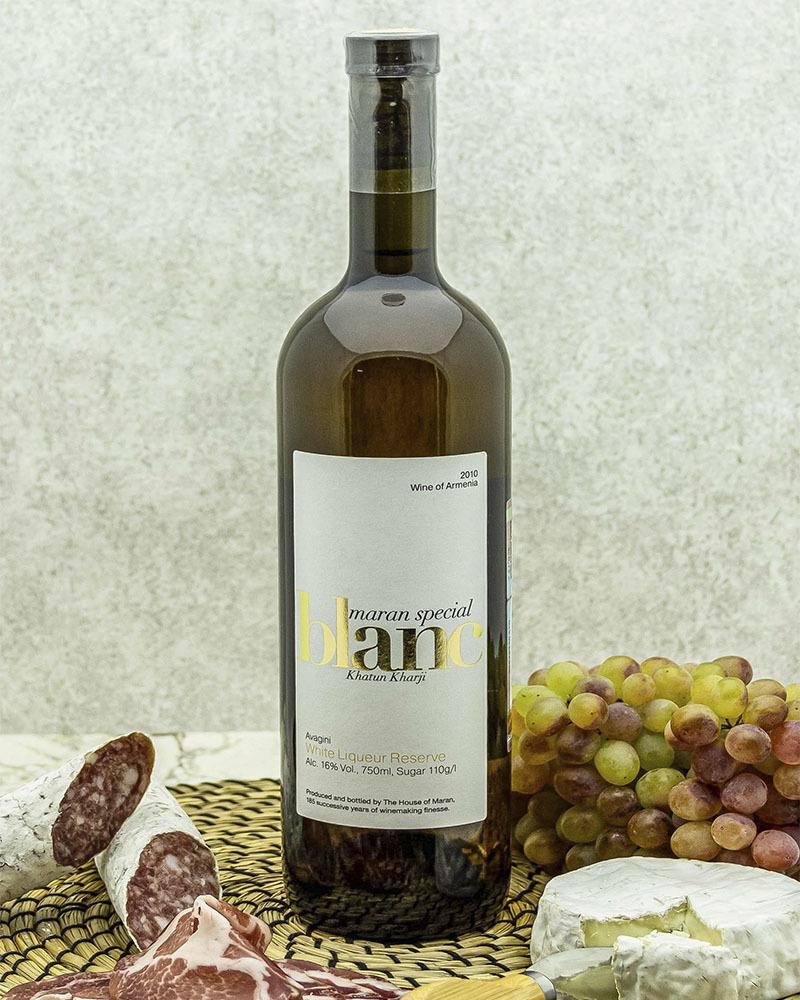 Вино Maran Winery Авагини Белое Ликерное 2010 г.у. 16,0% 0,75 л.