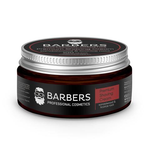 Крем для гоління з заспокійливим ефектом Barbers Sandalwood-Licorice Root 100 мл (1)