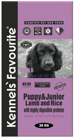 Kennels` Favourite Puppy & Junior Ягненок и Рис 20 кг.