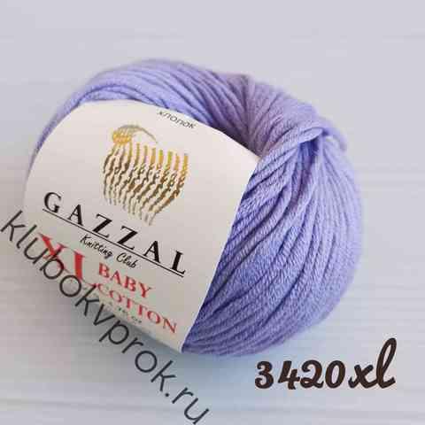 GAZZAL BABY COTTON XL 3420XL, Светлый фиолетовый