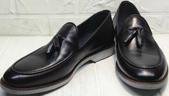 Красивые лоферы мужские туфли из натуральной кожи Luciano Bellini 91178-E-212 Black.