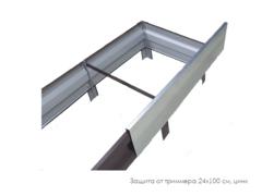 Защита от триммера 24х100 см., цинк