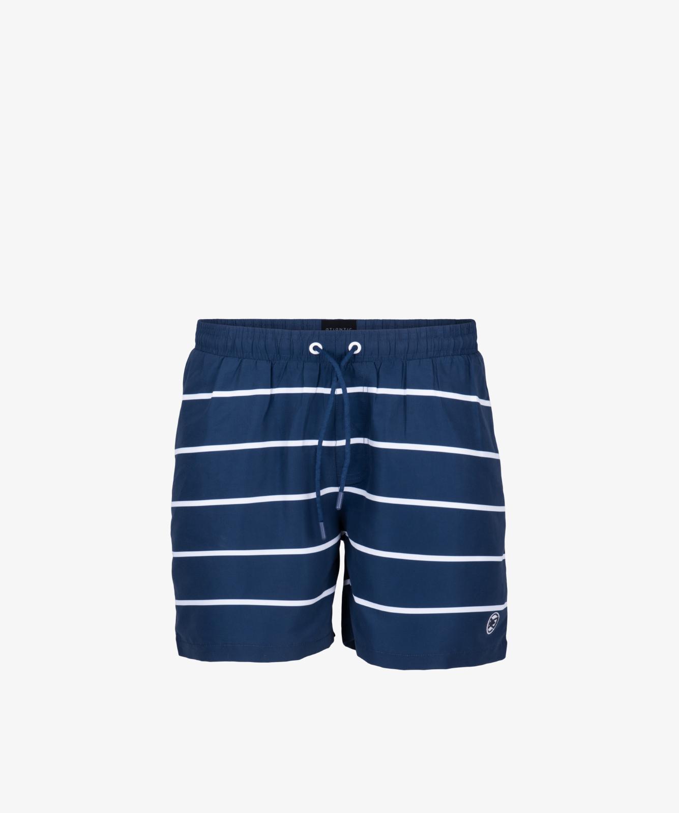 Пляжные шорты мужские Atlantic, 1 шт. в уп., полиэстер, темно-синие, KMB-191