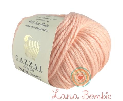 Пряжа Gazzal Baby Wool XL персик 834