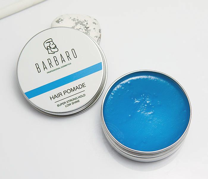 RAZ1004 Синяя помада для укладки волос «Barbaro», сильная фиксация (60 гр)