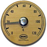 Термометр круглый NIKKARIEN (черная ольха)