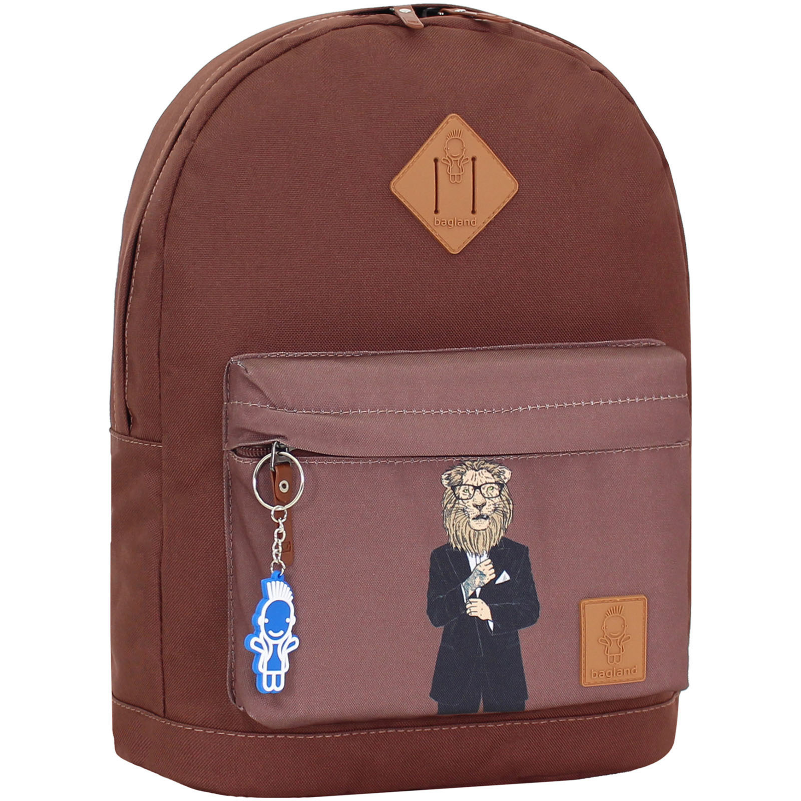 Городские рюкзаки Рюкзак Bagland Молодежный W/R 17 л. коричневый 195к (00533662) IMG_1064_195к.JPG