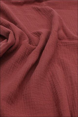 Ткань муслиновая,терракот2